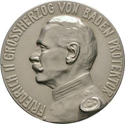Mattierte Silbermedaille 1914, Friedrich II., Baden-Durlach