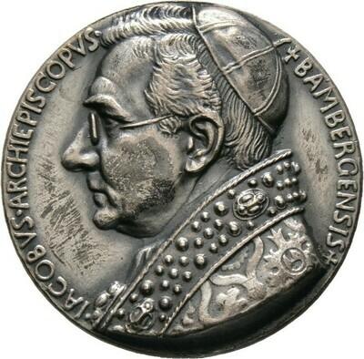 Mattierte Silbermedaille 1915, Johann Jakob von Hauck, Bamberg
