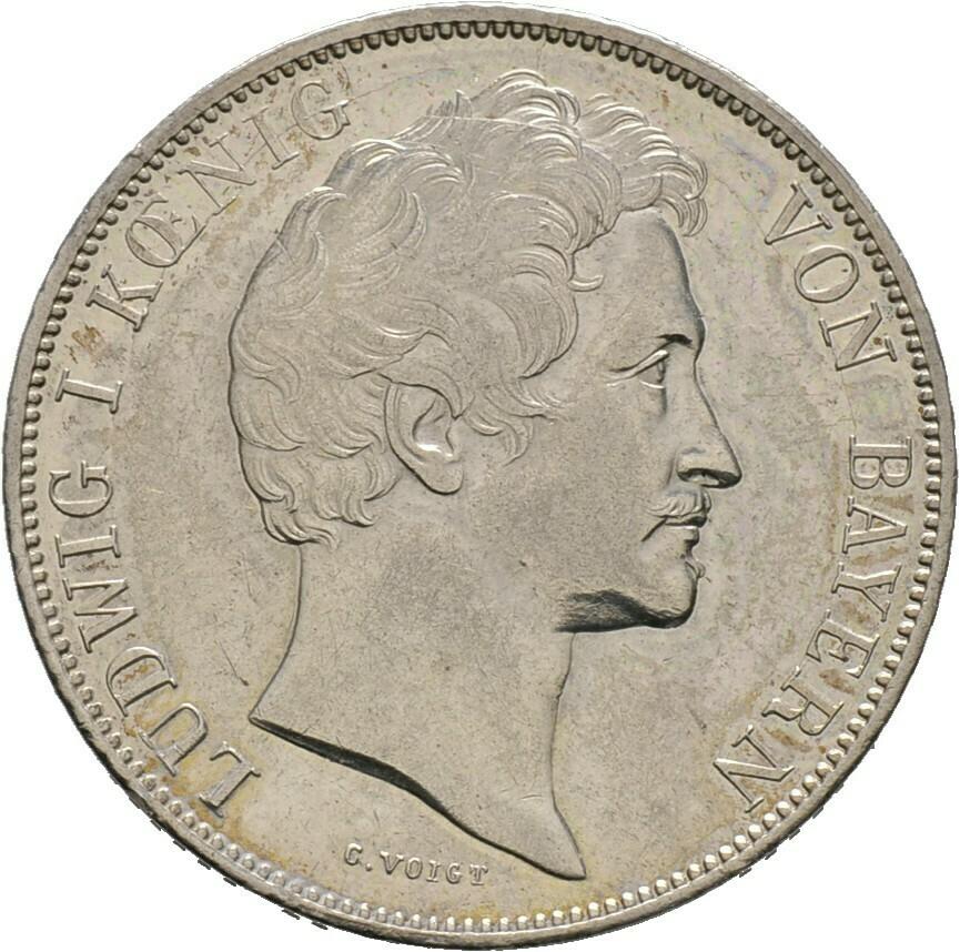 Gulden 1840, Ludwig I., Bayern