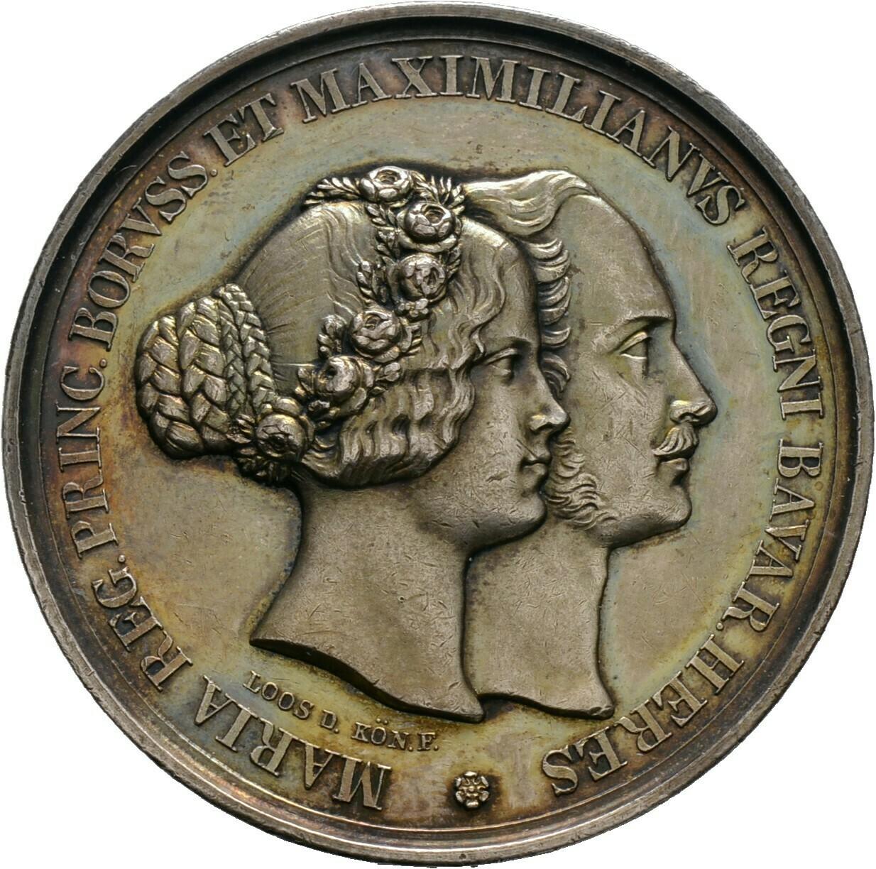 Silbermedaille 1842, Ludwig I., Bayern