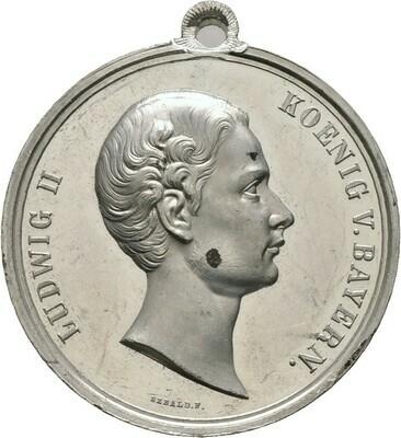 Tragbare Zinnmedaille o.J., Ludwig II., Bayern