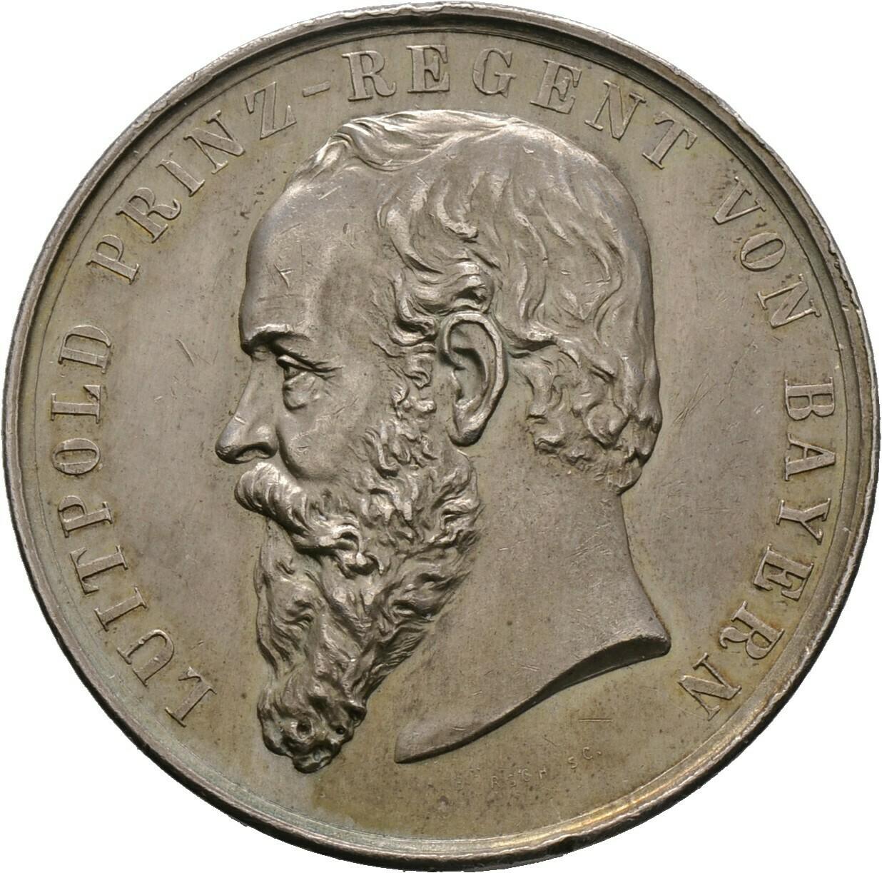 Silberne Prämienmedaille o.J., Luitpold, Bayern
