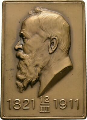 Einseitige Bronzeplakette 1911, Luitpold, Bayern