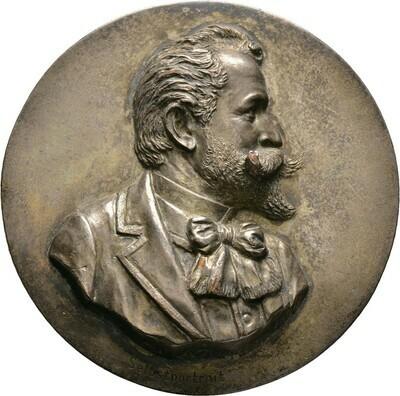 Einseitige, versilberte Bronzemedaille 1896, Otto, Bayern