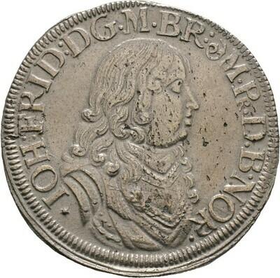 Gulden zu 2/3 Taler 1677, Johann Friedrich, Brandenburg-Ansbach
