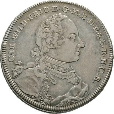 Konventionstaler 1754, Karl Wilhelm Friedrich, Brandenburg-Ansbach