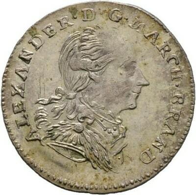 Landmünze zu 2 1/2 Kreuzer 1786, Alexander, Brandenburg-Ansbach