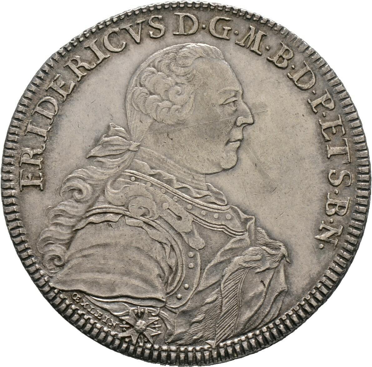 Konventionstaler 1760, Friedrich, Bayreuth