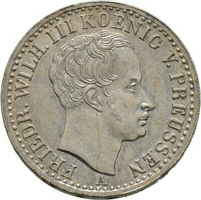 1/6 Taler 1825 A, Friedrich Wilhelm III., Brandenburg-Ansbach