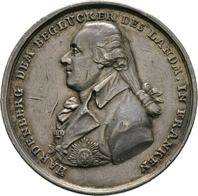 Silbermedaille o.J. (nach 1795), Friedrich Wilhelm III., Brandenburg-Preußen