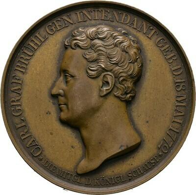 Bronzemedaille 1829, Friedrich Wilhelm III., Brandenburg-Preußen