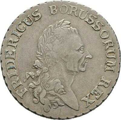 Reichstaler, sogen. Sterbetaler 1786, Friedrich II., Brandenburg-Preußen