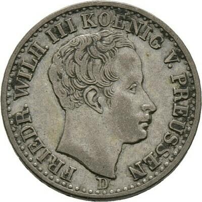 1/6 Taler = 4 Groschen 1840 D, Friedrich Wilhelm III., Brandenburg-Preußen