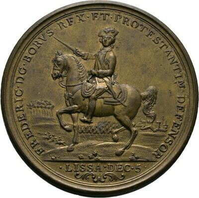 Bronzemedaille 1757, Friedrich II., Brandenburg-Preußen