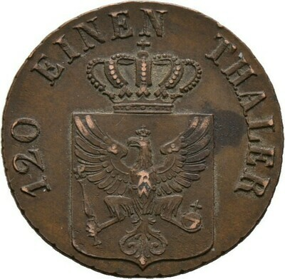 Cu-3 Pfennige 1839, Friedrich Wilhelm III., Brandenburg-Preußen