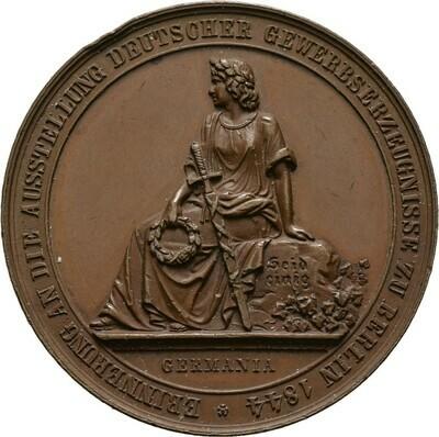 Bronzemedaille 1844, Friedrich Wilhelm IV., Brandenburg-Preußen
