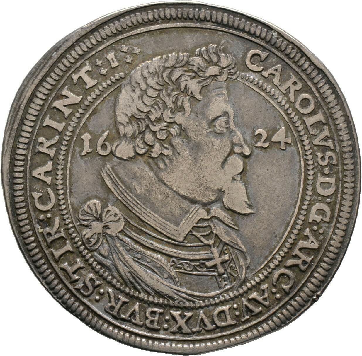 Taler 1624 -Nürnberg-, Karl Erzherzig von Österreich, Deutscher Orden