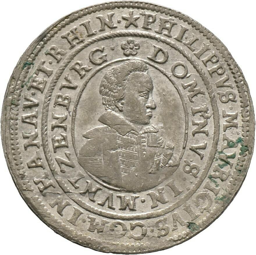 Teston 1619, Philipp Moritz, Hanau-Münzenberg
