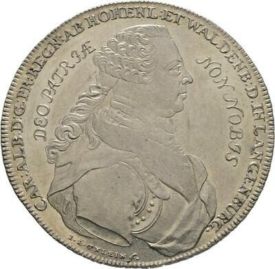 Konventionstaler 1757, Karl Albrecht, Hohenlohe-Waldenburg-Schillingsfürst
