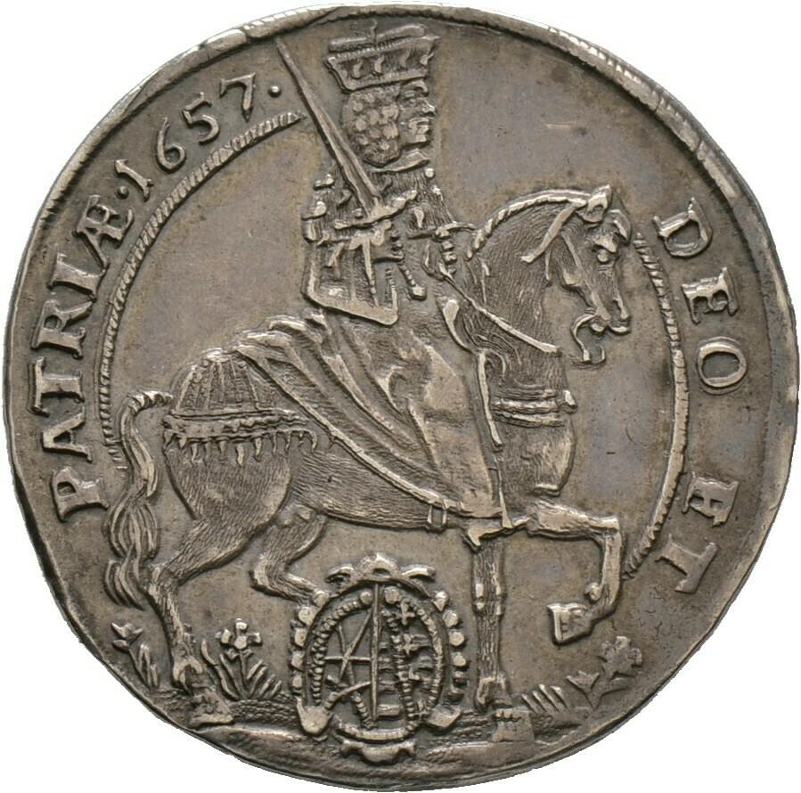1/ 4 Taler 1657, Johann Georg II., Sachsen-Albertinische Linie