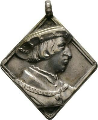 Silberne Medaillenklippe 1502, Maximilian I., Haus Habsburg