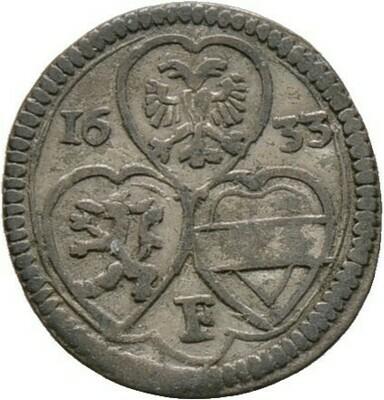 Einseitige 2 Pfennig (1/2 Kreuzer) 1633, Ferdinand II., Haus Habsburg