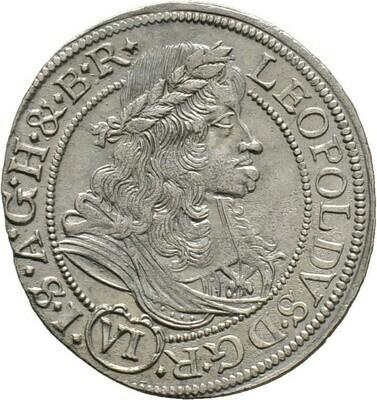 6 Kreuzer 1684, Leopold I., Haus Habsburg