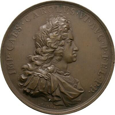 Bronzemedaille 1711, Karl VI., Haus Habsburg
