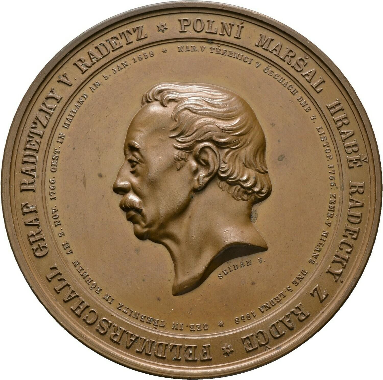 Große Bronzemedaille 1859, Franz I., Haus Österreich