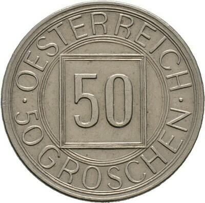 50 Groschen 1934, 1. Republik, Haus Österreich