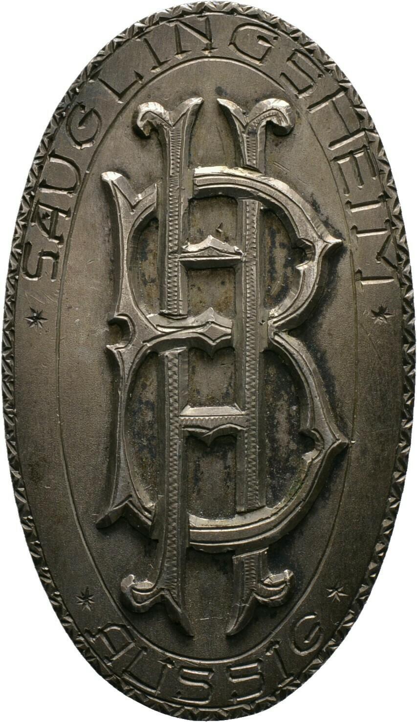 Einseitige, silberne Brosche o.J. (1920-1930), 1. Republik, Böhmen, Stadt Aussig