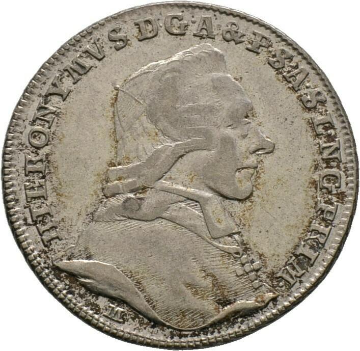 Kleine Silbermedaille (Schaumünze zu 10 Kreuzer) 1782, Hieronymus Graf Colloredo, Salzburg, Erzbistum