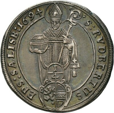 1/4 Taler 1694, Johann Ernst von Thun und Hohenstein, Salzburg, Erzbistum