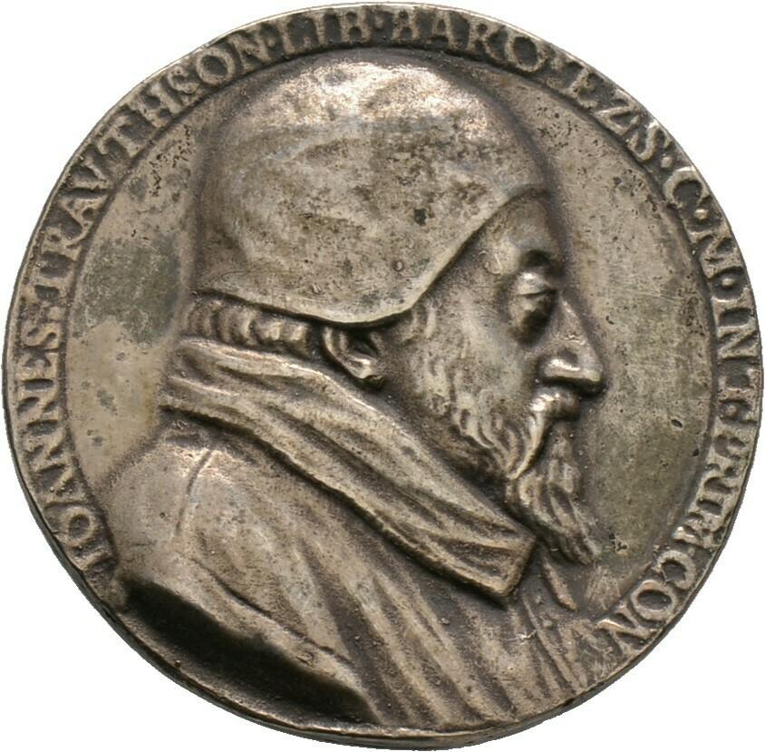 Silbermedaille 1589, Johann III., Trautson