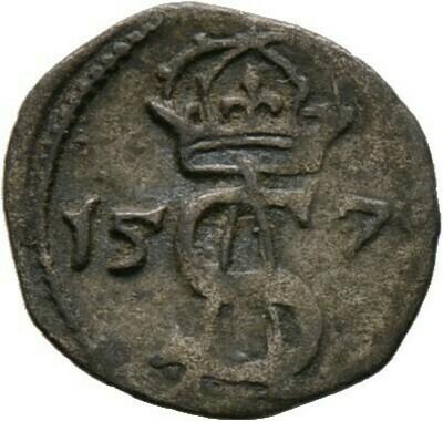 Doppeldenar 1570, Sigismund II. August, Baltikum-Litauen