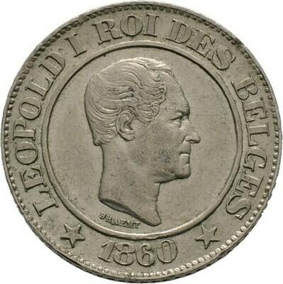 20 Centimes 1860, Leopold I., Belgien, Königreich