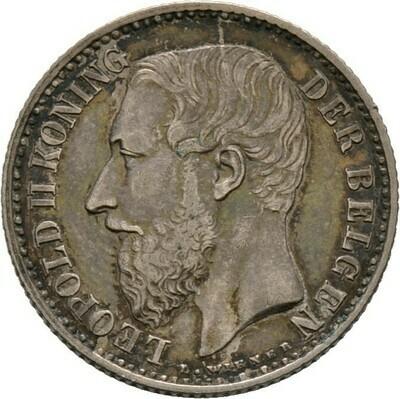 Franc 1886, Leopold II., Belgien, Königreich