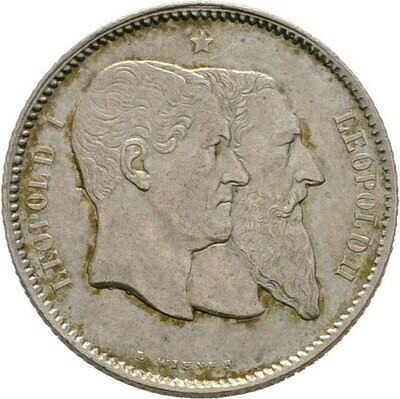 Franc 1880, Leopold II., Belgien, Königreich