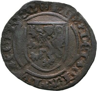 Cu-4 Mijt o.J. (1490?), Philipp der Schöne, Belgien, Königreich-Brabant