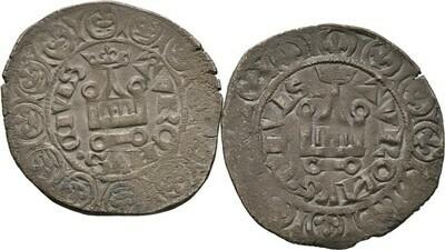 Lot (2 Stücke): Gros a'la queue o.J. (1355), Jean II. le Bon, Frankreich