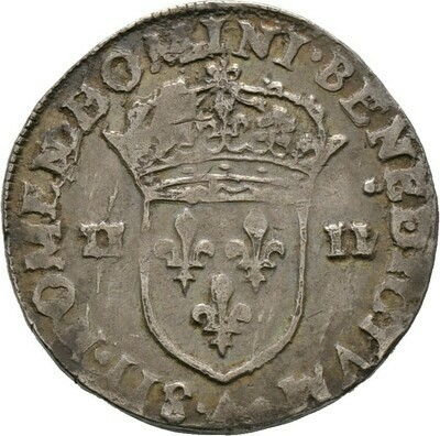 Quart d'Ecu 1582, Henri III., Frankreich