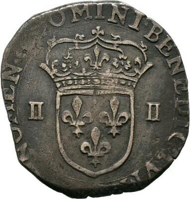 Douzain 15861/4 Ecu 1601(?), Henri IV., Frankreich