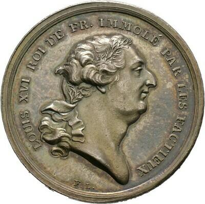 Silbermedaille 1793 von F.W. Loos, Louis XVI., Frankreich