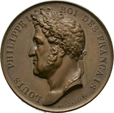 Bronzemedaille 1833 von Montagny, Louis Philippe, Frankreich