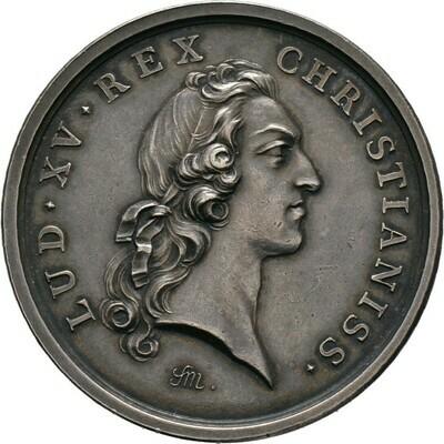 Silbermedaille 1747, Louis XV., Frankreich