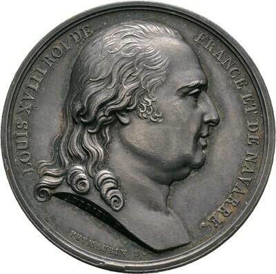 Silberne Prämienmedaille o.J. von Andrieu, Louis XVIII., Frankreich
