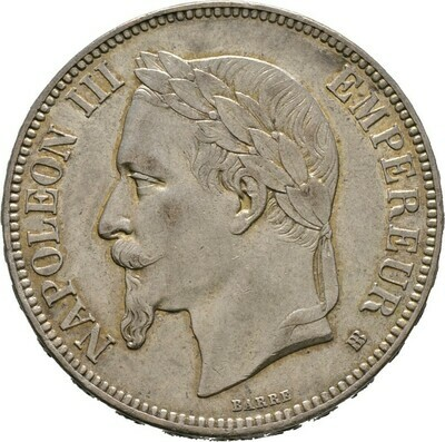 5 Francs 1869, Napoleon III., Frankreich
