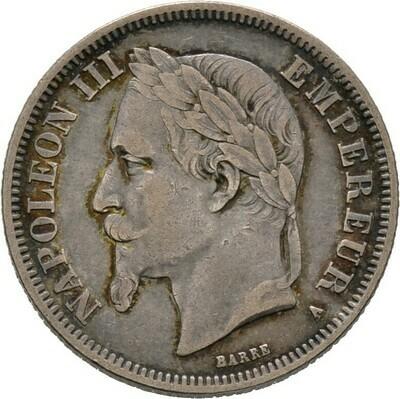 2 Francs 1869, Napoleon III., Frankreich