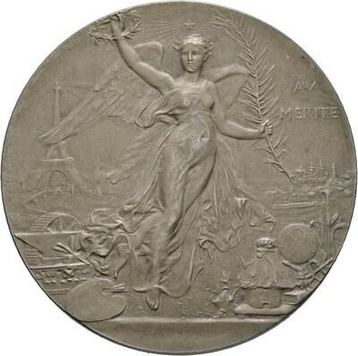 Mattierte, silberne Prämienmedaille o.J. (1904), 3. Republik, Frankreich