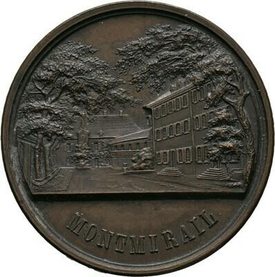 Bronzemedaille 1866, Napoleon III., Frankreich